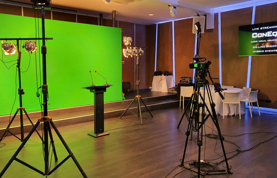 Production media green screen video editing