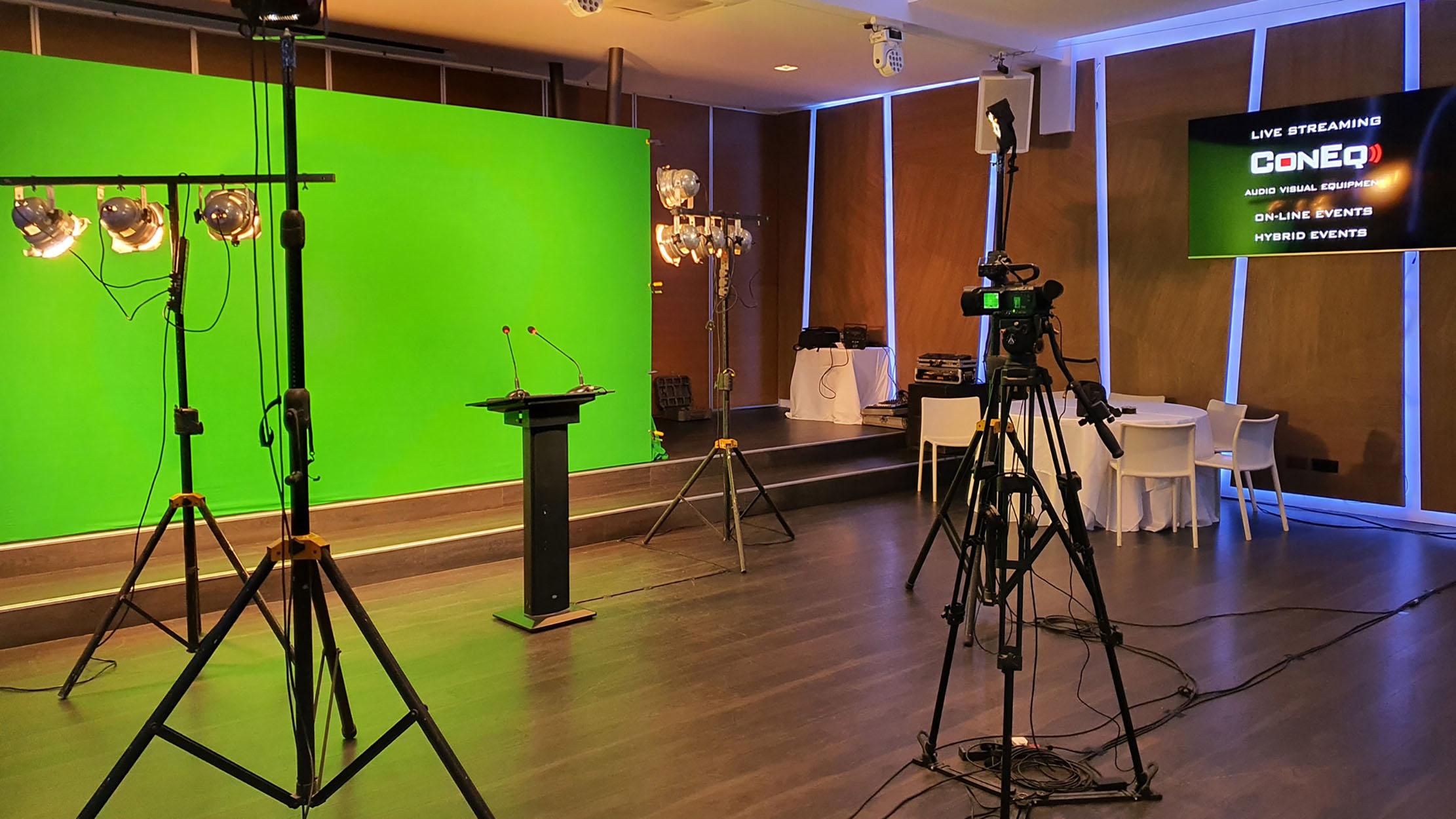 Production media green screen video editing